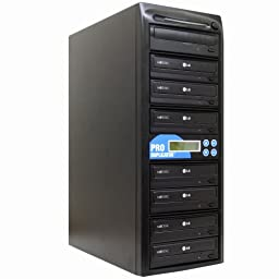 Produplicator 1 to 7 24X CD DVD Duplicator Copier (M-Disc Support Burner) with Nero Essentials CD/DVD Burning Software