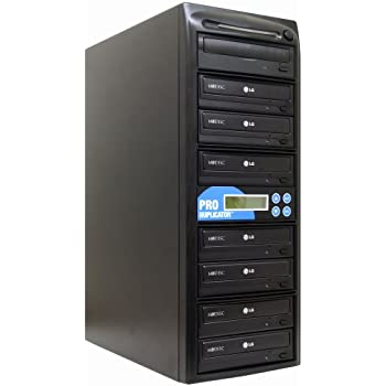 Produplicator 1 to 7 24X CD DVD Duplicator Copier (M-Disc Support Burner) with Nero Essentials CD/DVD Burning Software (Standalone Duplication Tower)