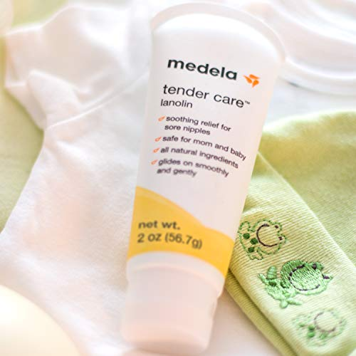 41ycykcP7oL - Medela, Tender Care, Lanolin Nipple Cream For Breastfeeding, All-Natural Nipple Cream, Tender Care Lanolin, Offers Soothing Protection, Hypoallergenic, All-Natural Ingredients, 100% Safe, 2 Oz. Tube