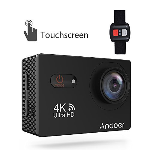 Andoer Sports Camera Action Camera Touchscreen 2inch LCD Wireless Action Camera 4K HD 170° Wide Angle Waterproof Sports Camera with Sony Image Sensor