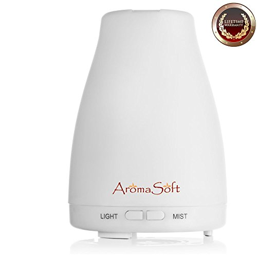 Aromatherapy Essential Oil Ultrasonic Diffuser For Kids, Women & Men - Pure & Natural Cool Mist Diffusion For Your Aroma Oils | Portable, Easy To Use! Create Your Home Spa - Automatic Shut Off (To Where Buy Candles Aromatherapy)