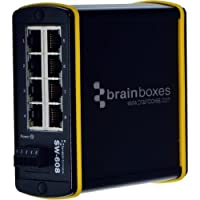 Brainboxes Hardened Industrial 8 Port Ethernet Switch 10/100