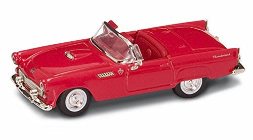 - Road Signature 1955 Ford Thunderbird Convertible, Red 94228 - 1/43 Scale Diecast Model Toy Car