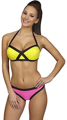 SHE Conjuntos de Bikinis para Mujer Gaby Amarillo/Rosa (102/105)
