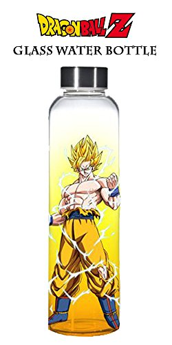 20oz Dragon Ball Z OFFICIAL Super Saiyan Goku PREMIUM Orange Sports and Fitness Training Water Bottle GIFT (BPA-Free) (Goku Super Saiyan Poster)