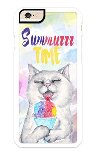 - iPhone 6 Plus Case, iPhone 6S Plus Case, iZERCASE, [Summer Time Cat Kitty] for Apple iPhone 6 Plus, iPhone 6S Plus, iPhone Cover (White)