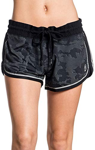 (American Fighter Shadow Trail Graphic Sport Track Shorts for Women)