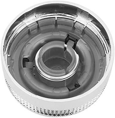 SBCX Cubierta de bot/ón de Perilla de Interruptor de Control de Medios m/últiples para autom/óvil para Audi///A6 S6 C6 2005 2008 4F0 919 069A Cubierta de Perilla de Medios