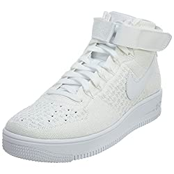 Nike Af1 Ultra Flyknit Mid Mens Trainers 817420 Sneakers Shoes (Uk 8 Us 9 Eu 42.5, White White 102)