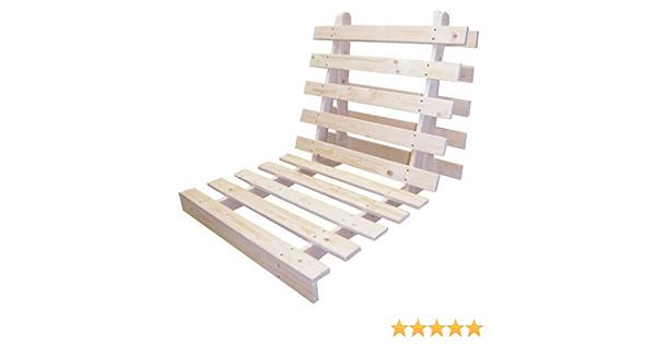 Base plegable Shopisfy de listones de madera de calidad para futón, suelto