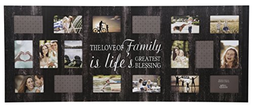 Burnes of Boston Rustic 18 Opening Distressed Family Collage Frame