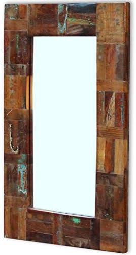 Espejo de Madera Vintage para Pasillo y Ba/ño 50 x 110 cm Festnight