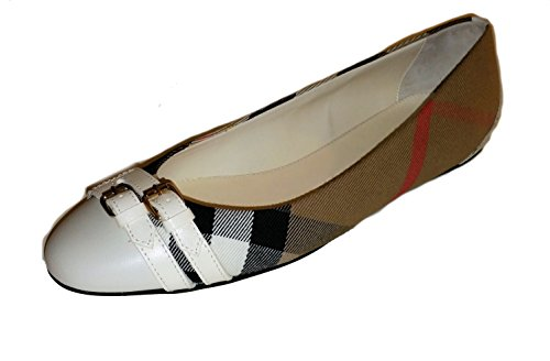 BURBERRY Bridle House Check Haymarket Ballerinas Flats 8