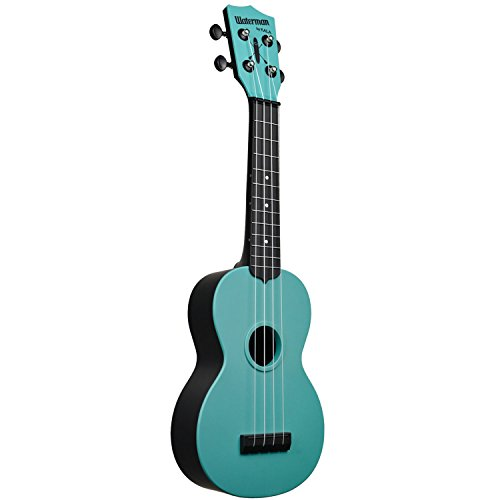 Kala Makala Waterman Glow in the Dark Aqua Blue Soprano Ukulele Aqua Blue - Image 1