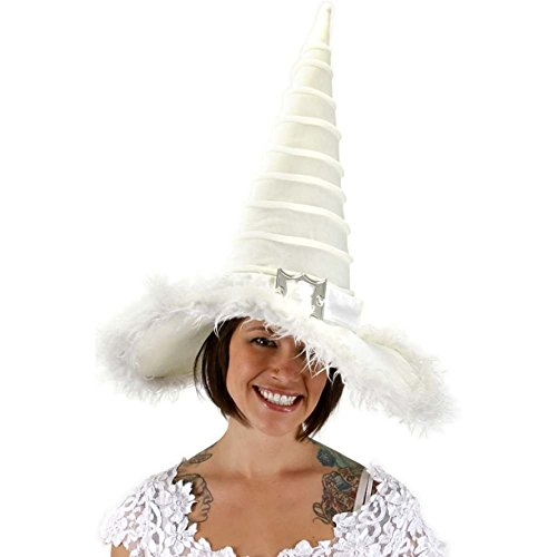 Witch From Snow White (Elope Unisex Adult Good Witch Hat White)