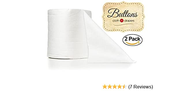 Biodegradable Septic and Sewer Safe Environmentally Friendly Buttons Flushable Disposable 100/% Bamboo Viscose Diaper Liners Fragrance and Chlorine Free 200 Count