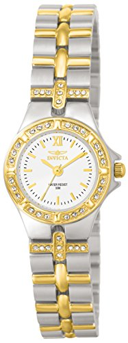 Gemstone Quartz Wrist Watch - Invicta Women's 0133 Wildflower Collection 18k Gold-Plated and Stainless Steel Watch