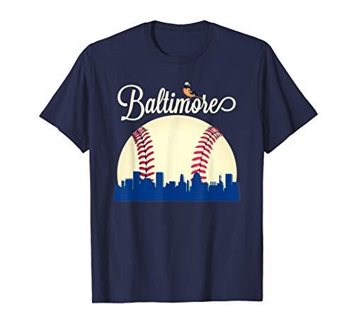 (Baltimore Oriole Baseball Tshirt Downtown Skyline)