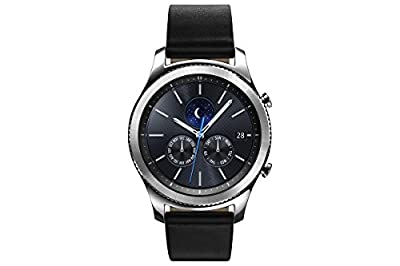 Samsung Gear S3 Classic Smartwatch 4GB SM-R770 with Leather Band (Silver) Tizen OS - International Version with No Warranty from Samsung