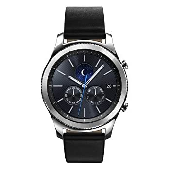 Samsung Gear S3 Classic Smartwatch 4GB SM-R770 with Leather Band (Silver) Tizen OS - International Version with No Warranty