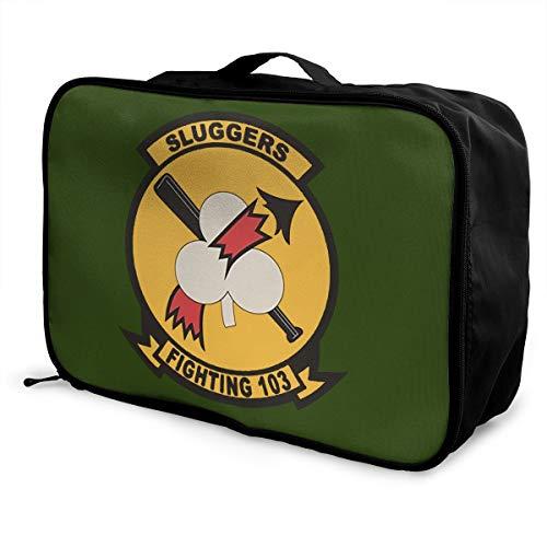 MAGNET US Navy VF-103 Sluggers Squadron Unisex Travel Duffel Bag Waterproof Fashion Lightweight Large Capacity Portable Luggage ()
