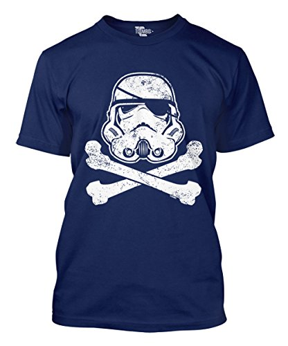 Crossbones Star (Tcombo Star Trooper Pirate And Crossbones Men's T-shirt (Navy, Large))
