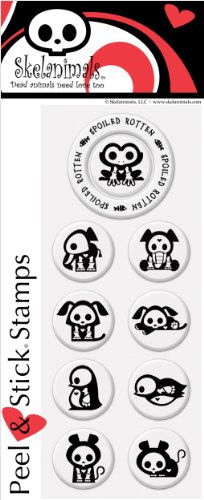 Stamp Psa Personalized (PSA Essentials Peel & Stick Stamps, Skelanimals Chip and Friends)