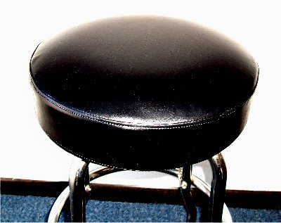 - Black Slip-on Bar Stool Cover 12-15 inche Diameter (14