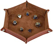 STYLIFING Dice Tray Metal Dice Rolling Tray Holder Storage Box for RPG DND Table Games, Double Sided Folding T