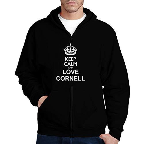 Idakoos Keep Calm and Love Cornell Zip Hoodie L Black