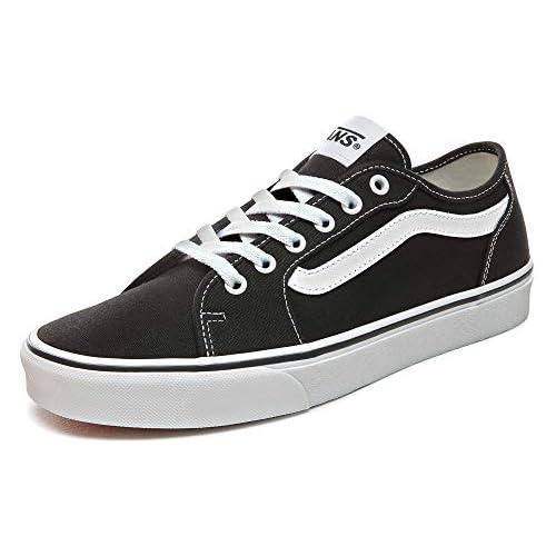 chollos oferta descuentos barato Vans Filmore Decon Zapatillas para Hombre Negro Canvas Black White 187 41