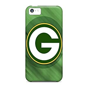 Iphone 5c Cases Covers - Slim Fit Protector Shock Absorbent Cases (green Bay Packers Hd)