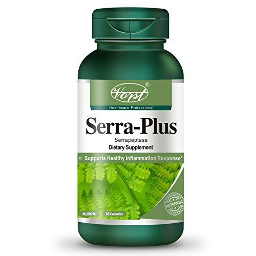 Vorst Serrapeptase 80,000 SU 60 Capsules with Turmeric Bromelain Papain Boswellia Anti-Inflammatory Digestive Enzyme Health Supplement