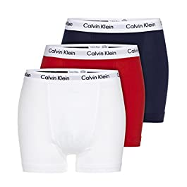 Calvin Klein Underwear Men's Trunks Pack of 3 – Cotton Stretch