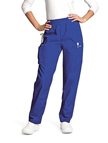 Landau Women's Classic Fit Cargo Elastic Waist Scrub Pants XX-Large (Bep Landau)
