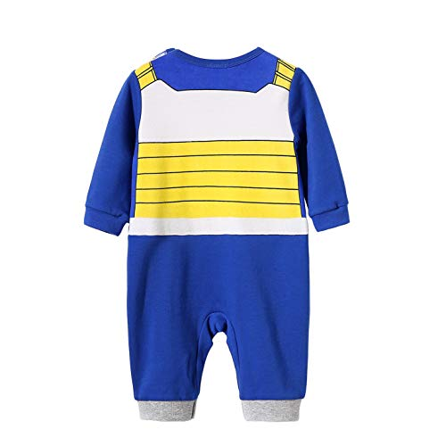 Beal Shopping Dragon Ball Z Long Sleeve Baby Boy and Girls Vegeta Rompers Costume Jumpsuit Baby Clothes