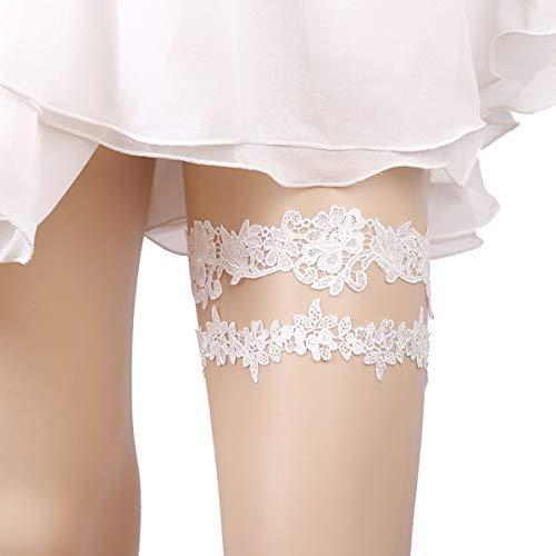 OURIZE Elegant Princess Lace Garter Wedding Sexy Garter Decoration for Bridal ()