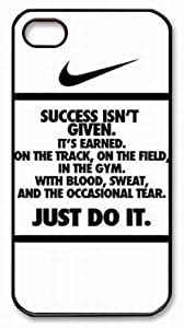 nike just do it Black PC For Case HTC One M8 Cover Case, nike Logo just do it For Case HTC One M8 Cover Covers