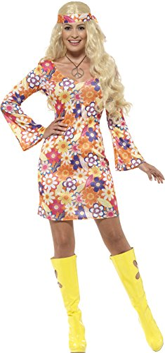 Costumes Hippie Chick Plus (Flower Hippie Girl Adult / Plus)
