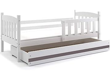 Etagenbett Quba 3 : Kinderbett quba cm in farben weiβ grau erle oder kiefer