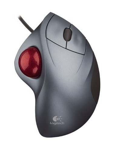 Logitech® Cordless TrackMan® Wheel Optical Two-Button Trackball (Logitech Trackman Wheel Trackball)