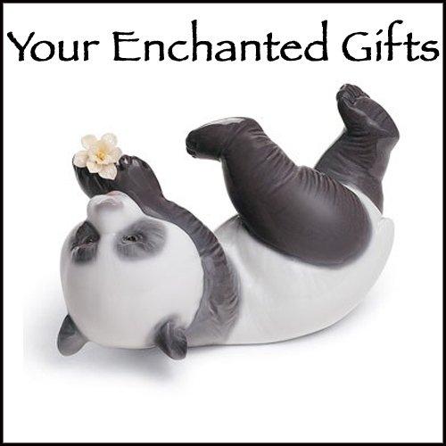 Lladro A Joyful Panda Porcelain Figurine