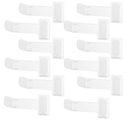 12 Pcs Transparent Windshield Plastic Parking Ticket Holder Clip With Adhesive Tape for Cars by OBANGONG