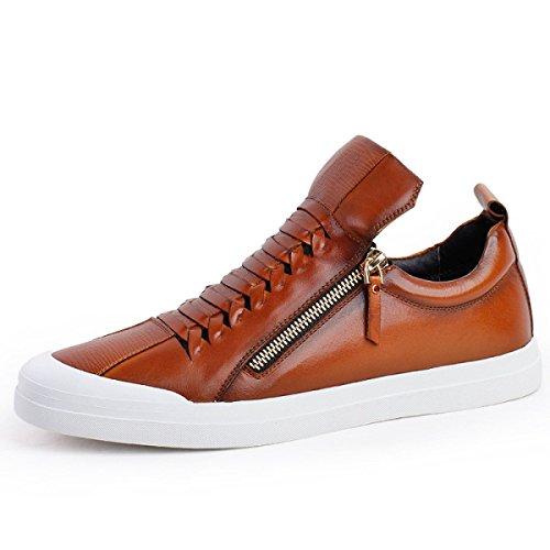 Pour Couleur En Cuir Marron Hommes Hommes Pour Sport Chaussures brown En Unie De Chaussures De NBWE Planche De Cuir qxawORYOZ4