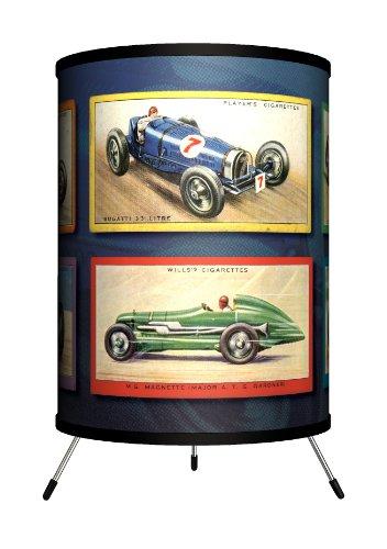 Lamp-In-A-Box TRI-TTN-VRACE Transportation - Vintage Race Cars Tripod Lamp ()