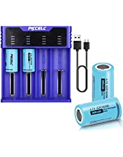 ICR18350 Lithium Battery 3.7V 900mAh Li-ion Rechargeable Batteries 4pcs+ Smart Battery Charger for ICR 18350 10440 17500