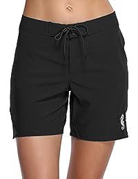 c3a056a31d Women's Long Board Shorts Quick Dry Swim Shorts Beach Boardshorts