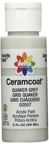 Ceramcoat Acrylic Paint 2 Ounces-Quaker Grey/Opaque