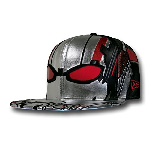 - New Era 59fifty Character Armor Ant-Man Silver Red Black Fitted (7 1/2)