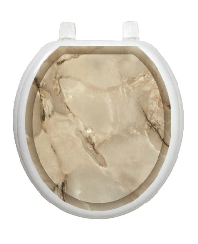 Taupe Marble Toilet Tattoo TT-1079-R Round